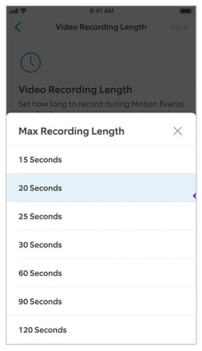 Hardwired Max Recording Length