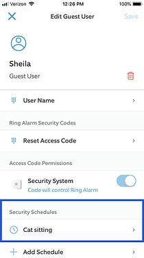 Security Schedule Example