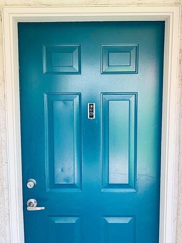 Door View Cam on Blue Door