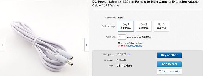3.5mm x 1.35mm (Female to Male) DC 10 ft. Extension Cable.jpg