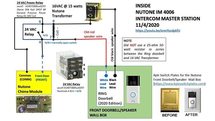 RING Doorbell Nutone Intercom Wiring