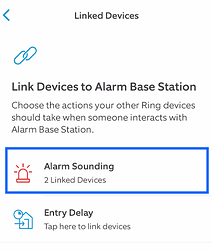 Linked Devices to Base Station