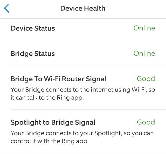 Smart Lights Device Health
